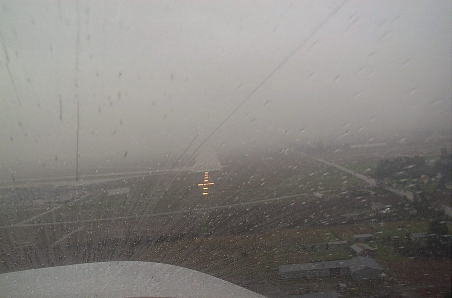 IFR approach at minimums